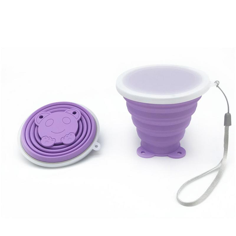 MUMIAN Cat Head Silicone Folding Cup Outdoor Travel Portable Cup Water Mug
