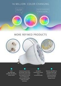 Image 5 - 12 ピース/セット ZIGBEE ZLL RGB + CCT RGBW WWCW スポットライト、 E27/E26/GU10 、 5 ワット、デュアル白と色ランプカップ、調光可能、 amazon のエコープラス