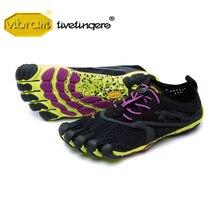 فيبرام فيفيالأصابع V RUN النساء في الهواء الطلق الرياضة الطريق احذية الجري خمسة أصابع تنفس ارتداء مقاومة خمسة أصابع أحذية رياضية