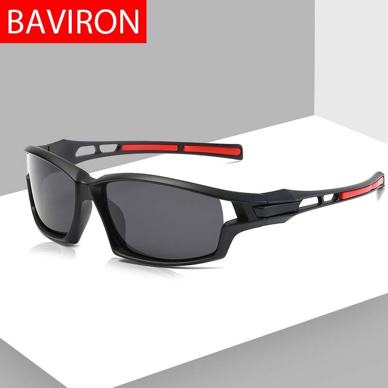 Baviron Goggle Kacamata Pria Olahraga Terpolarisasi Mengemudi Kacamata Hitam  Pria Wanita Sun Kacamata UV Melindungi Ringan 7c18d52e32