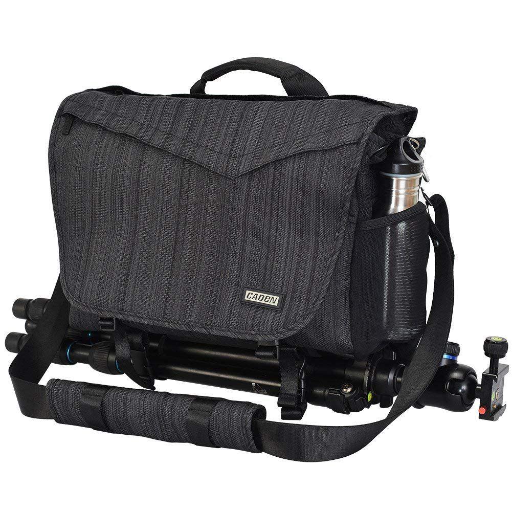 TFTP-CADeN DSLR Camera Bag Shoulder Messenger Bag for Canon Nikon Camera 3 Lens 14 Inch Laptop