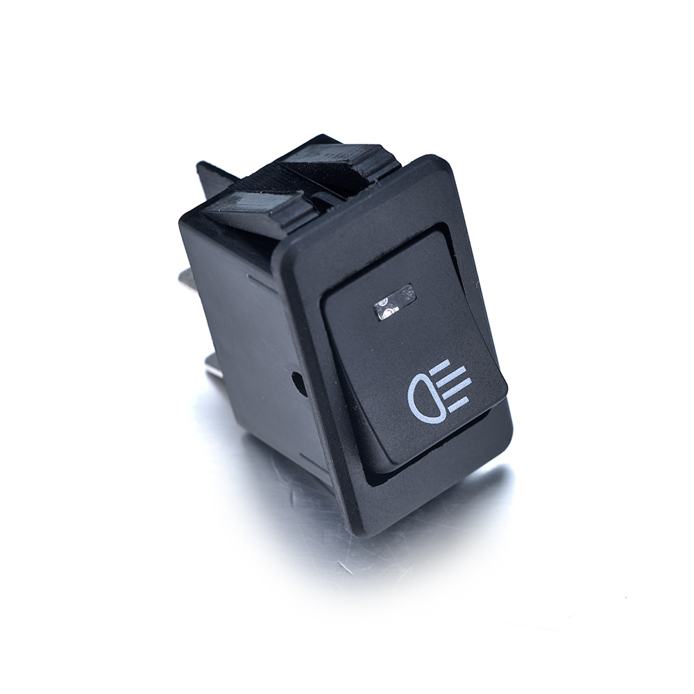 Universal 1/5/10pcs12v 35a 4 Pins Asw-17d Black Rocker Switch With Led Blue For Controlling The High Beam On The Cars Motor Yet Not Vulgar Tools
