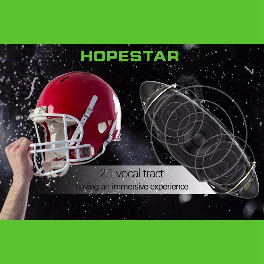 HOPESTAR H20 Rugby 30 W haut-parleur Bluetooth colonne Pc sans fil Portable Mini étanche méga basse stéréo extérieur caisson de basses Tf Usb - 6