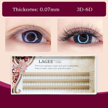 LAGEE C Curl Thickness 0.07mm soft and natural bunch  Eyelash Extensions faux Mink 3D-6D PreVolume Lash Premade fans