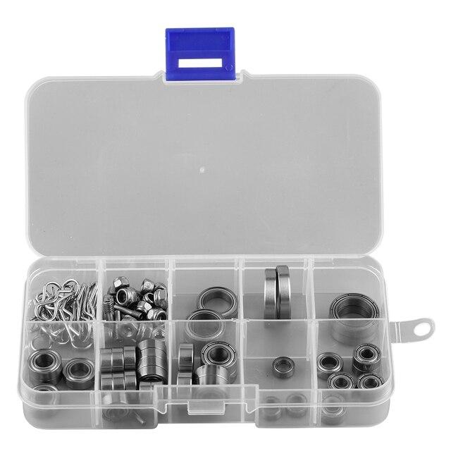 Набор металлических подшипников для радиоуправляемых автомобилей, набор винтов, ящик для инструментов для ремонта Traxxas TRX4 1/10 Crawler с более длительным сроком службы, детали для радиоуправляемых моделей