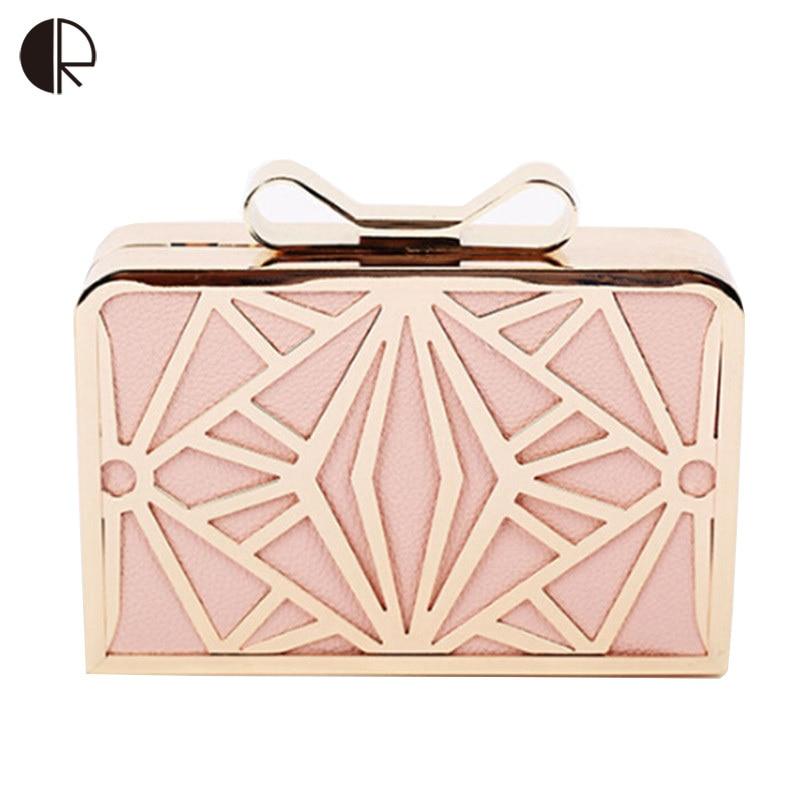 2019 New Fashion ženy kabelky Kovové Patchwork Shinning ramenní taška Dámy Pink denní spojka Svatební večírek večerní tašky Mini Bag