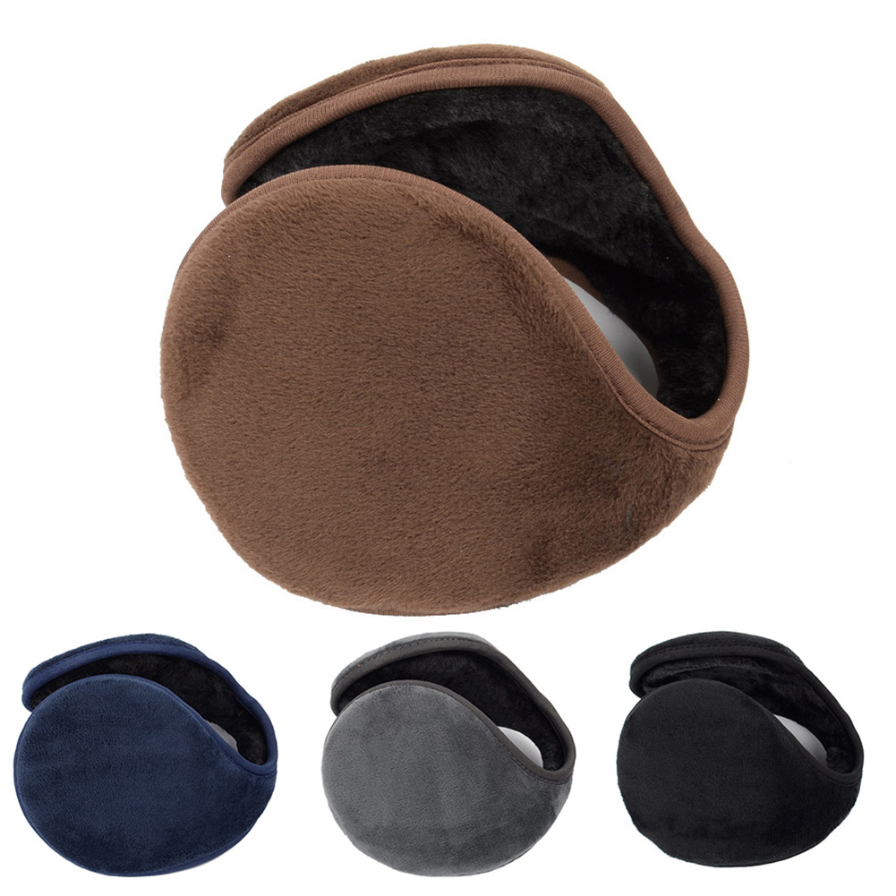 New Arrival Solid Color Women Men Ear Cover Protector Plush Soft Winter Warm Earmuff