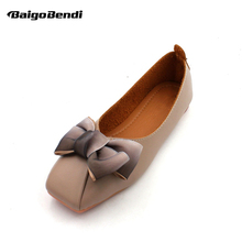 US 5-9 Big Bow Knot Woman Flats Trendy Square Toe Butterfly-knot Ballet Flats Ladies Shallow Mouth Girls Casual Shoes цена 2017