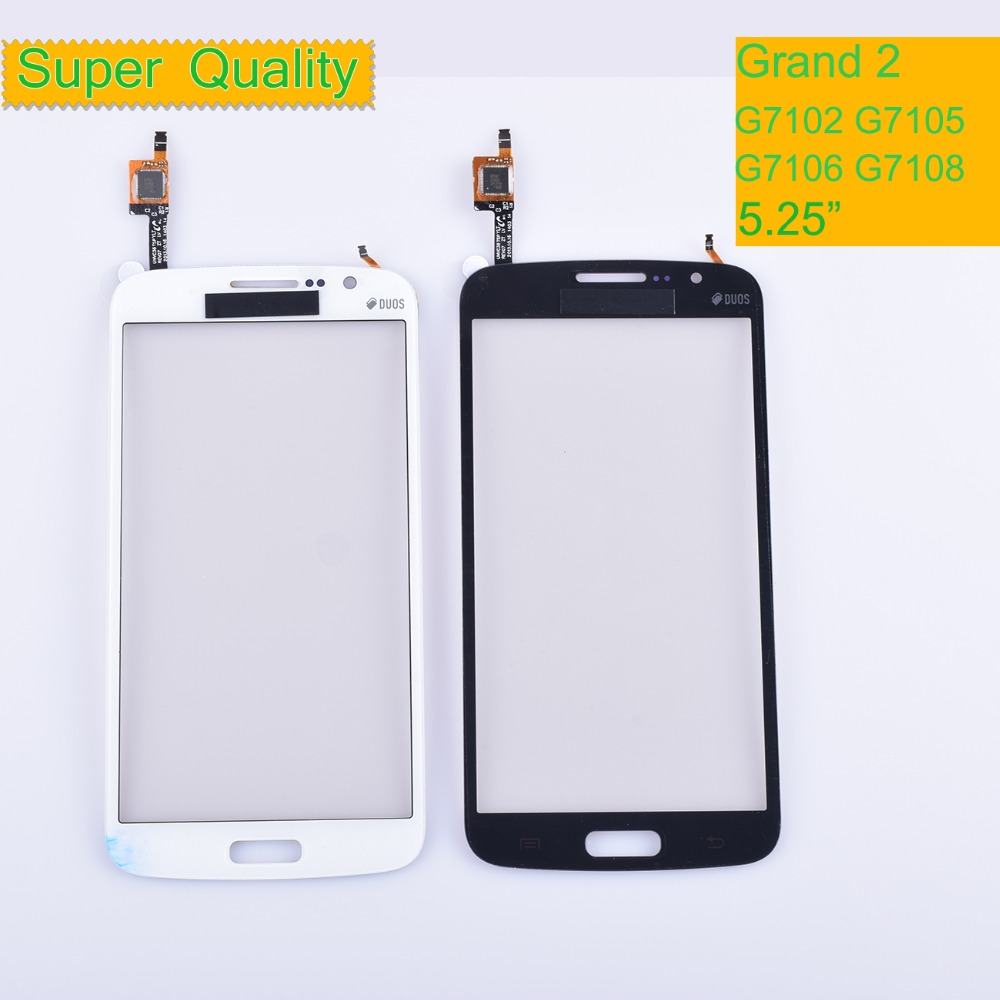 10Pcs/lot For Samsung Galaxy Grand 2 G7102 G7105 G7106 G7108 Touch Screen Panel Sensor Digitizer Front Glass Lens Touchscreen image