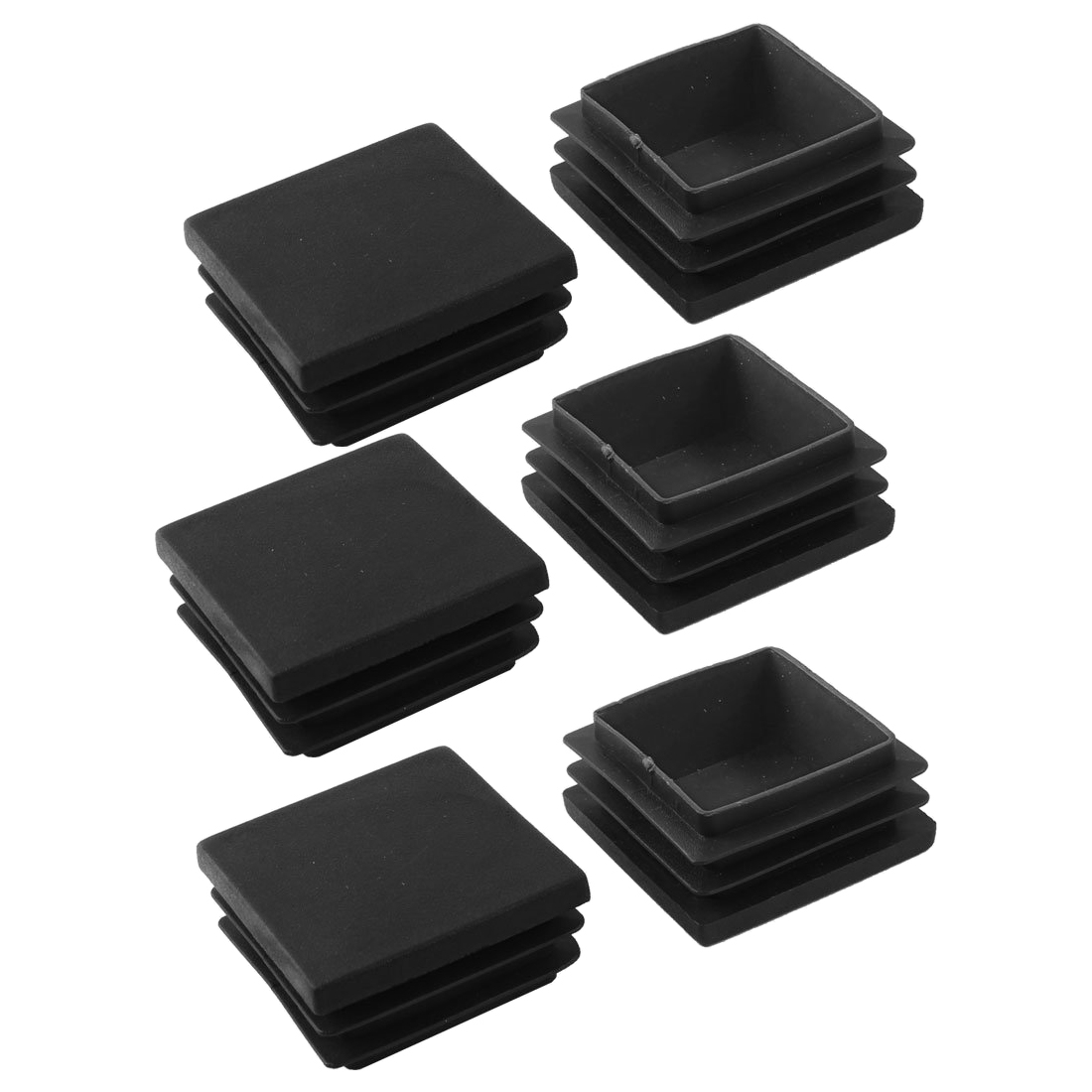 Promotion! 6 Pcs Black Plastic Closure End Caps Square Tubing Tube Foot Cover 40 X 40 Mm