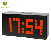 LED Digital Electronic Alarm Clock LED Dot Design Cube Thermometer Temperature Date Table Desktop Clocks Large Led display