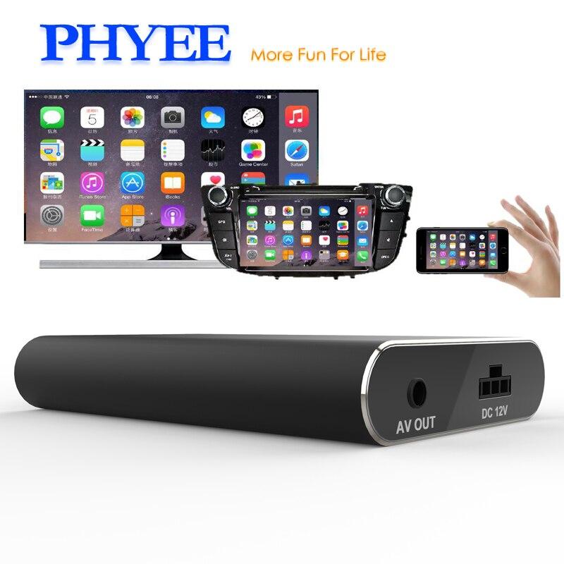 PHYEE USB Miroir Lien Voiture Dongle Écran Boîte De Mise En Miroir Plug and Play Audio Vidéo Adaptateur MLC600 HDMI CVBS pour iPhone Android Téléphone - 2