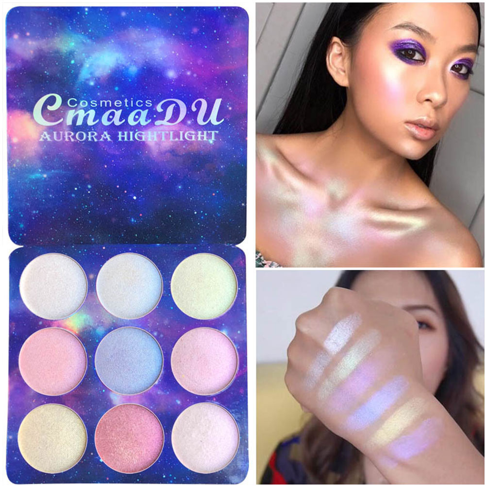 9 Colors Concealer Glitter Glow Makeup Universal Face Eye Shadow Palette Contour Highlight