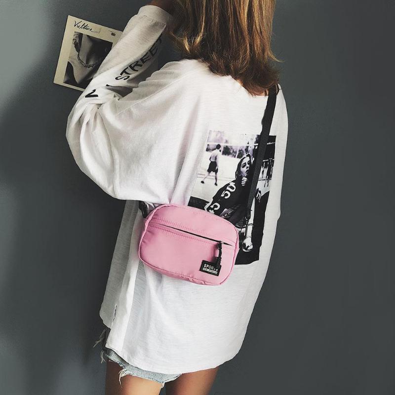 Fashion Unisex Zipper Shoulder Bags Casual Crossbody Bag Bright Colors Bag Brand Design Casual Messenger Handbag Bolso Mujer