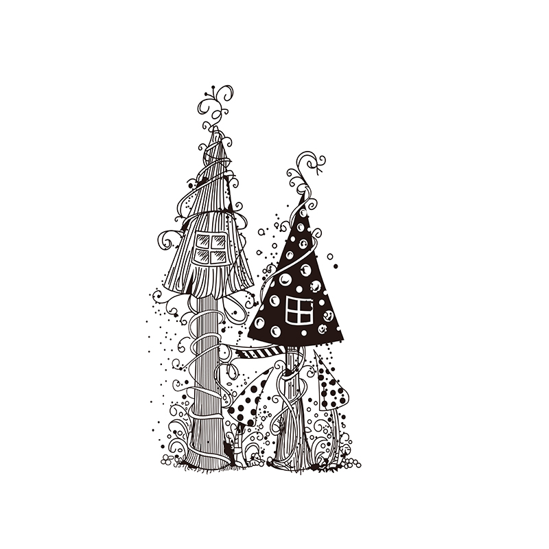 Fairy House Transparent Clear Stamps For DIY Scrapbooking Paper Card Making Kids Christmas Fun Decoration Supplies