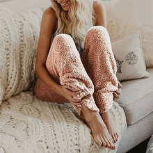 Women's Winter Soft Plush Lounge Sleep Pajama Pants