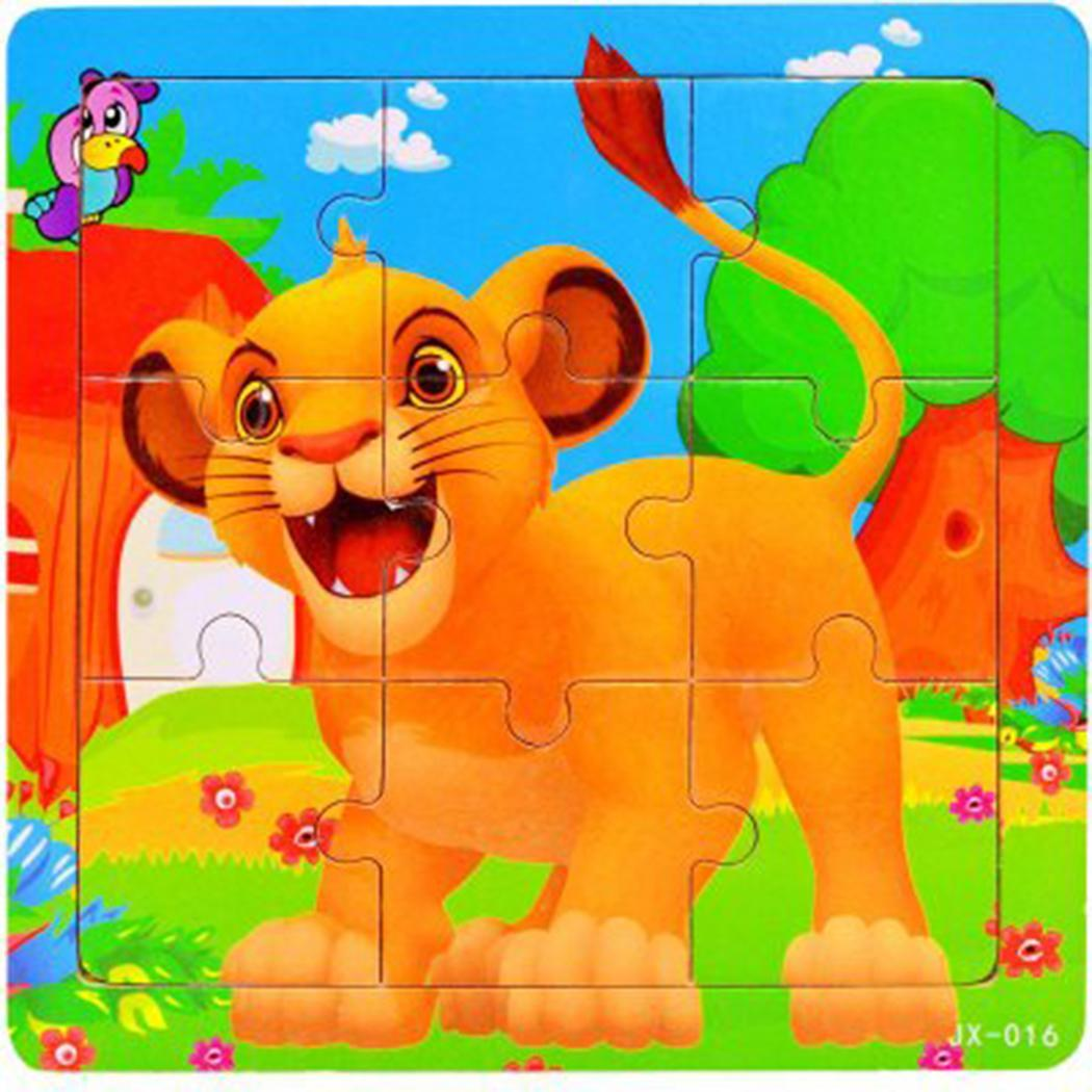 2 Wooden 9 Puzzle Old 08KG Toys Cartoon 7 Unisex Kids Education For 0 Learning Set Jigsaw Years Pieces Of 9Pcs Toys