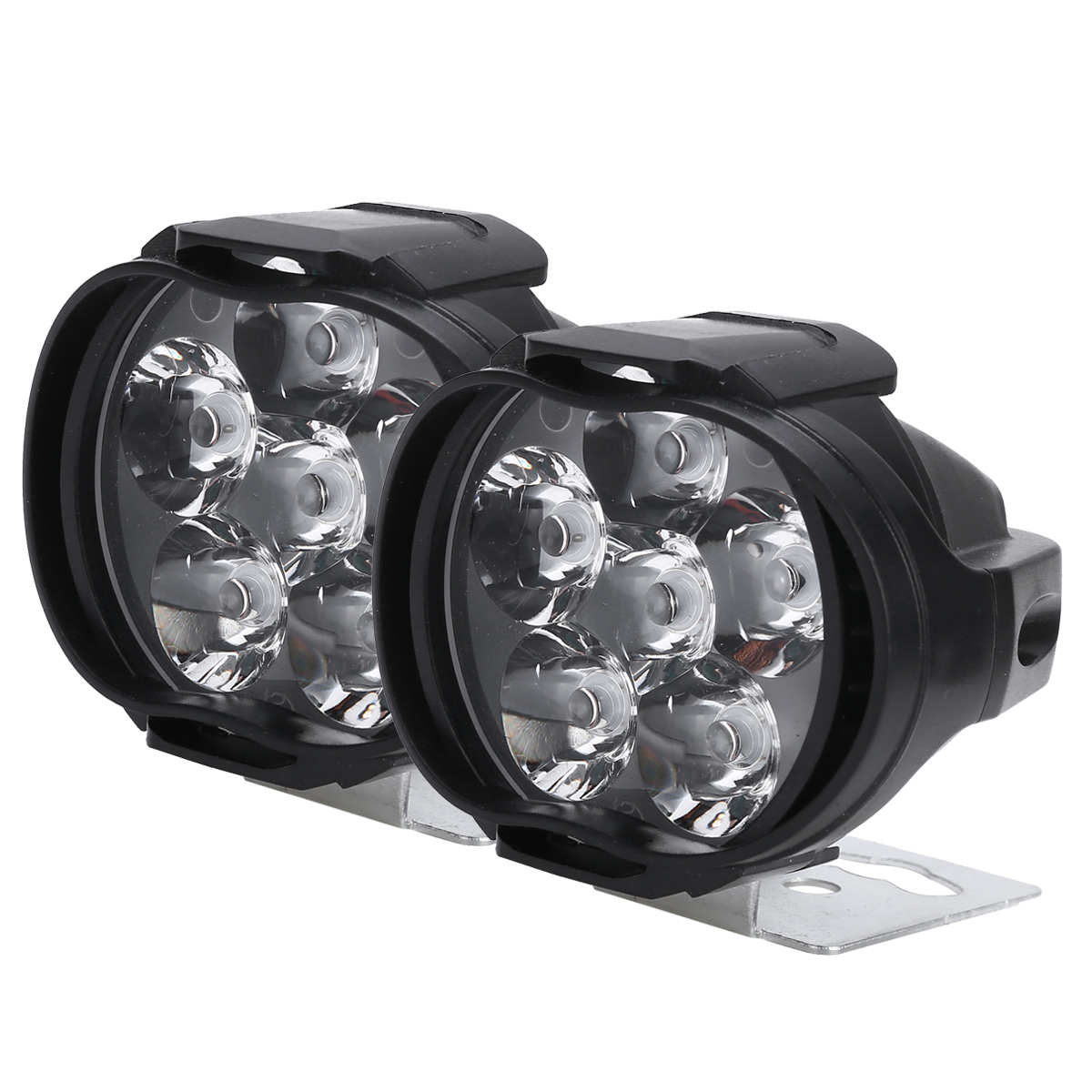 1pair Motorcycle Headlight Scooter Fog Spotlight LED Motorbike ATV 9-85V Moto Working Spot Light Day-time Running Lamp White