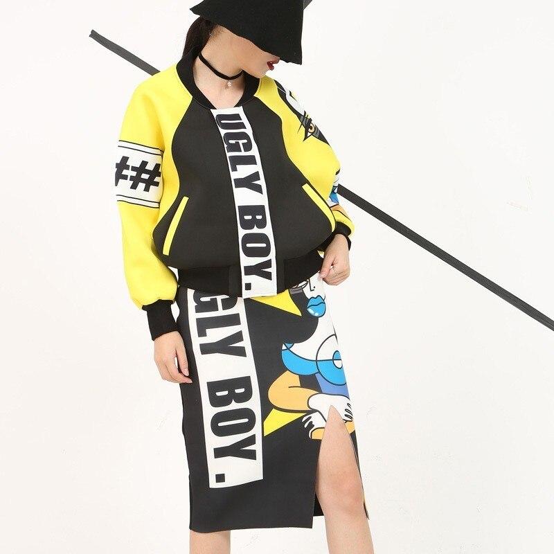 Longues Manches Nouveau De Montant eam Printemps Col Manteau Black Femmes Imprimé Grande Mode Marée Taille À 1ts14131 2019 Noir Jacekt Lâche 5xxqY0