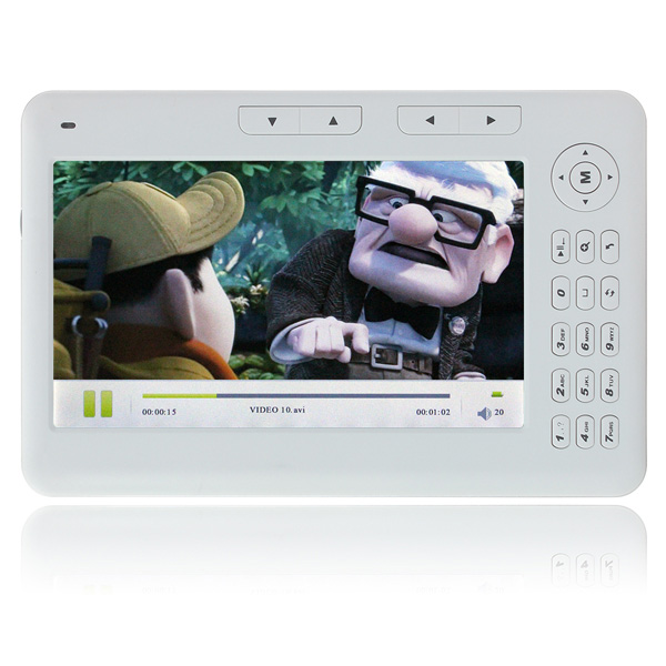 "CLAITE לבן/שחור 8 gb מקלדת eBook מסך 7 ""אור אלחוטי קורא עם מובנה ספר אלקטרוני 2300 mah 720 p קורא"