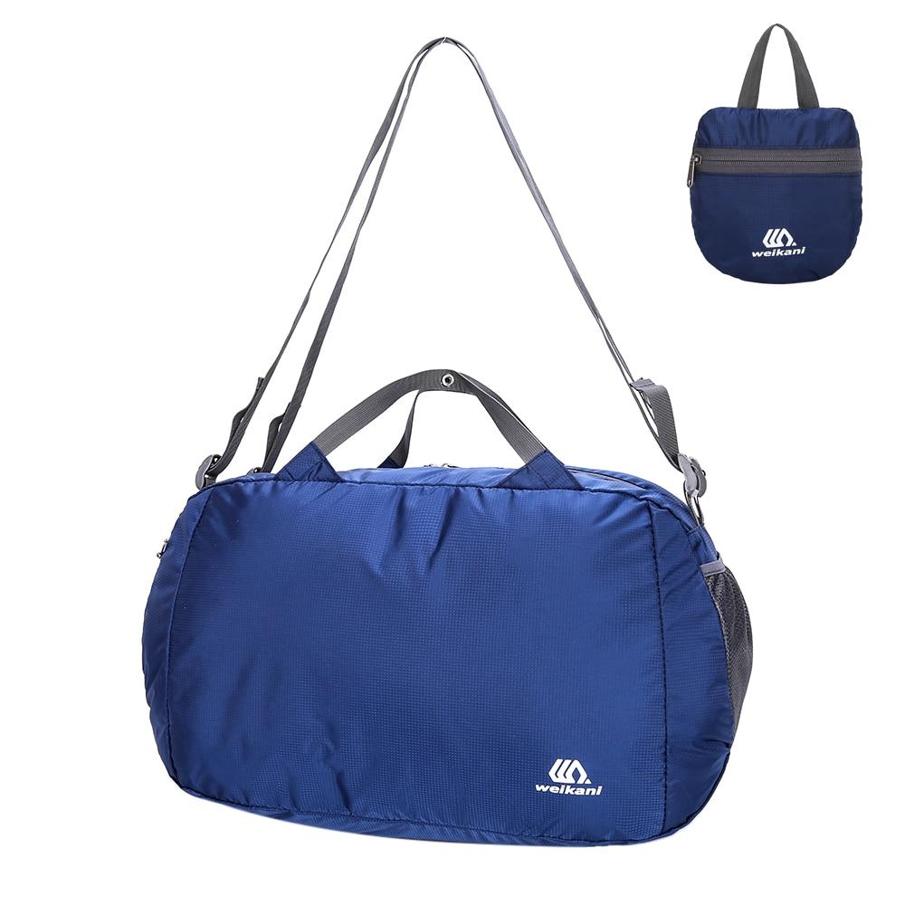 32L Water-Resistant Large Travel Duffle Bag For Men &Amp; Women Foldable Backpack Shoulder Bag Gym Sports Bag Outdoor Hiking