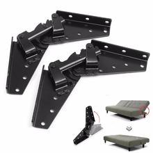 ELEG-metal Steel Black Sofa Bed Bedding Furniture Adjustable 3-Position Angle Mechanism Hinge Hardware