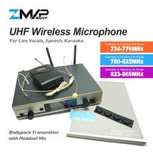 ZMVP Профессиональный 322 G3 UHF Беспроводной микрофон караоке речи беспроводные Системы с поясной передатчик гарнитура Mirophone Mic