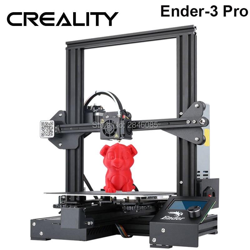 Chaude Creality 3D Ender-3 PRO 3D Imprimante Amélioré Cmagnet Plaque de Construction Cv Panne De Courant Impression kit de bricolage Meanwell Alimentation