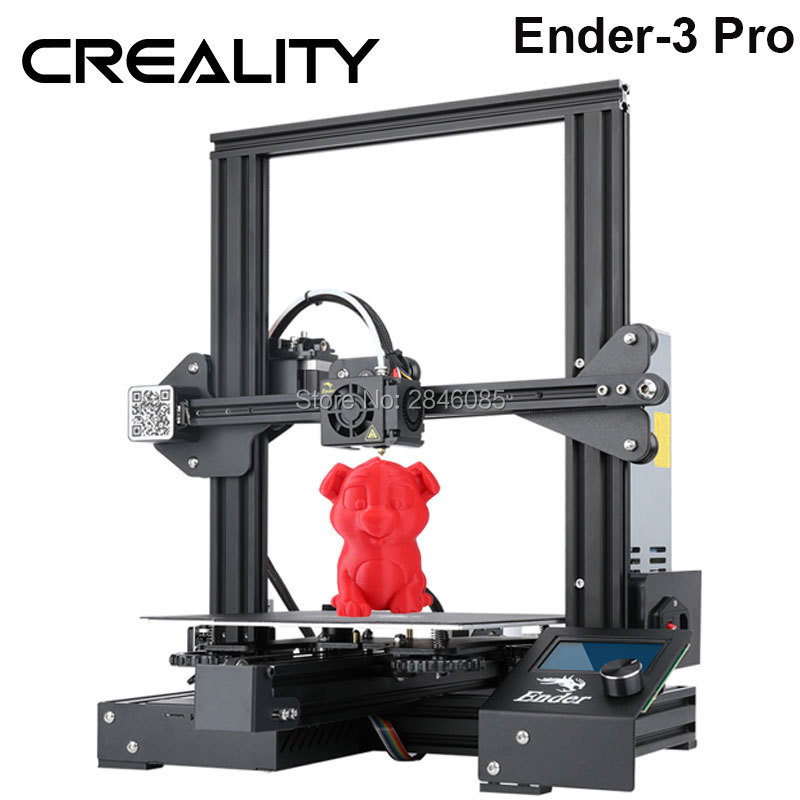 Hot Creality 3D Ender-3 PRO 3D Printer Upgraded Cmagnet Build Plate Resume Power Failure Printing DIY KIT Meanwell Power Supply