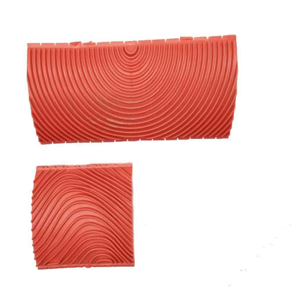 2 pçs 3 Polegada 6 Polegada imitação de madeira grão pintura rolo escova ferramenta pintura parede