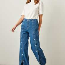 4XL 2018 Spring High Waist Casual Trousers Jeans Woman Plus Size Tassels Embroidery
