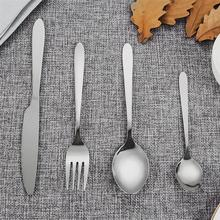 1Set Pratical Durable Safe Useful Dinnerware Flatware Set Western Tableware Suit Knife Fork Tableware Stainless Steel Dinnerware