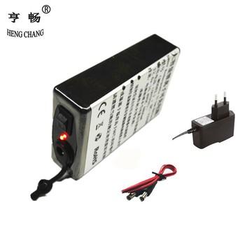 Akumulator 12v Super akumulator litowo-jonowy do DC 12V 4800mAh z ładowarką tanie i dobre opinie HENGCHANG Li-ion 0 19 100*60*25 12480 DC POWER 12 6V