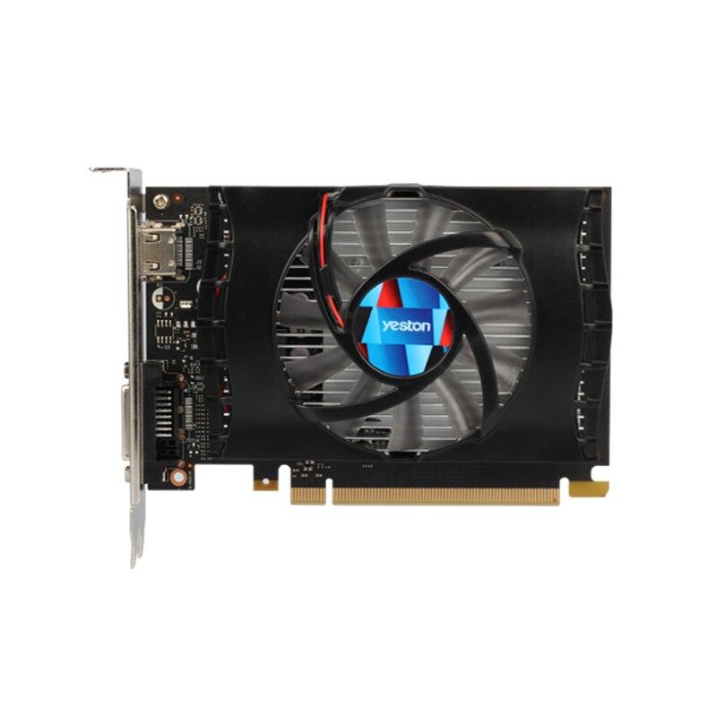 Yeston Geforce Gt 1030 2 ГБ Gddr5 видеокарты Nvidia Pci Express 3,0 настольный компьютер ПК видеоигровая видеокарта