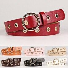 Fashion Bohemian Hollow Women's Round Buckle Wide Belt Women's Metal PU Leather Round Buckle Belt недорого