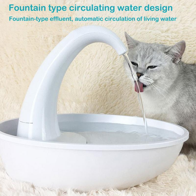 Pet Drinking Fountain Electric Automatic Cycle Water Dispenser For Dog Cat Water Dispenser Drinking Bowls Promoting Health And Curing Diseases Home