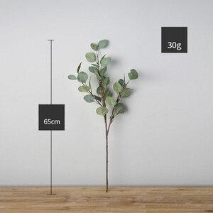 Image 3 - 65 Cm Nhân Tạo Giả Xanh Lá Bạch Đàn Xanh Vật Có Hoa Lụa Bắc Âu Cho Gia Đình Trang Trí Đám Cưới Tự Làm Vòng Hoa Trang Trí Nhà