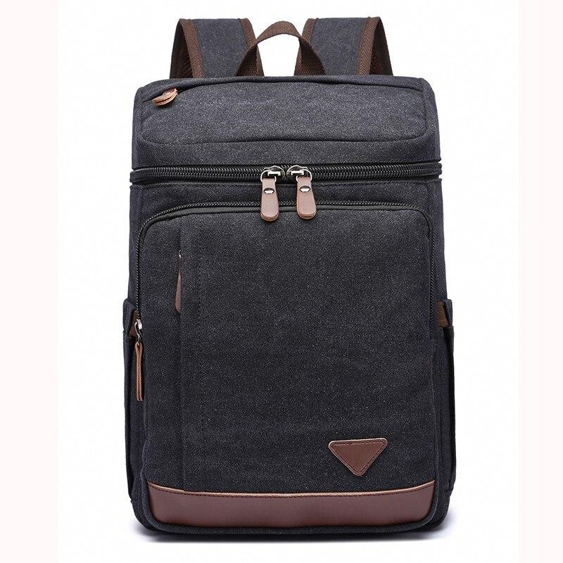 123443128 Canvas Backpack Vintage School Bag Travel Rucksack Fits 14'' Laptop Daypack  College Student Bookbag For Men Shoulder Satchel - aliexpress.com -  imall.com