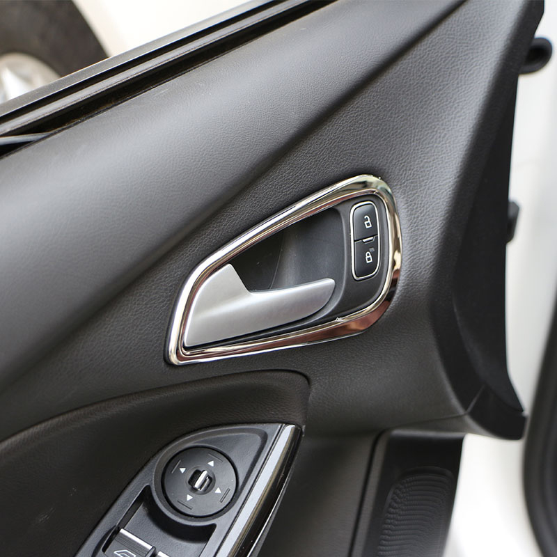 My Good Car Stainless Steel Inner Door Handle Decoration Trim Sticker For <font><b>Ford</b></font> <font><b>Focus</b></font> 3 4 MK3 4 MK4 2012 - <font><b>2017</b></font> Car accessories image