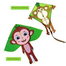Бумажный змей в форме обезьяны игрушки Спорт на открытом воздухе одна линия воздушный змей с 30 м Летающая линия для семьи и друзей