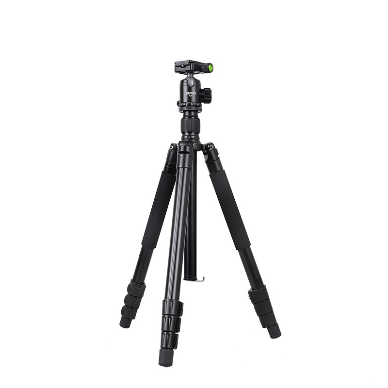 MOCH-Bexin Ta284+K36 Professional Aluminum Tripod Portable Travel Compact System Horizontal Tripod With Ball Head For Canon SlMOCH-Bexin Ta284+K36 Professional Aluminum Tripod Portable Travel Compact System Horizontal Tripod With Ball Head For Canon Sl