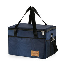 TOMSHOO Large Capacity Insulated Lunch Bag Foldable Cooler Tote Grocery Bag  Food Delivery Carrier Bag Box 014222aa68911