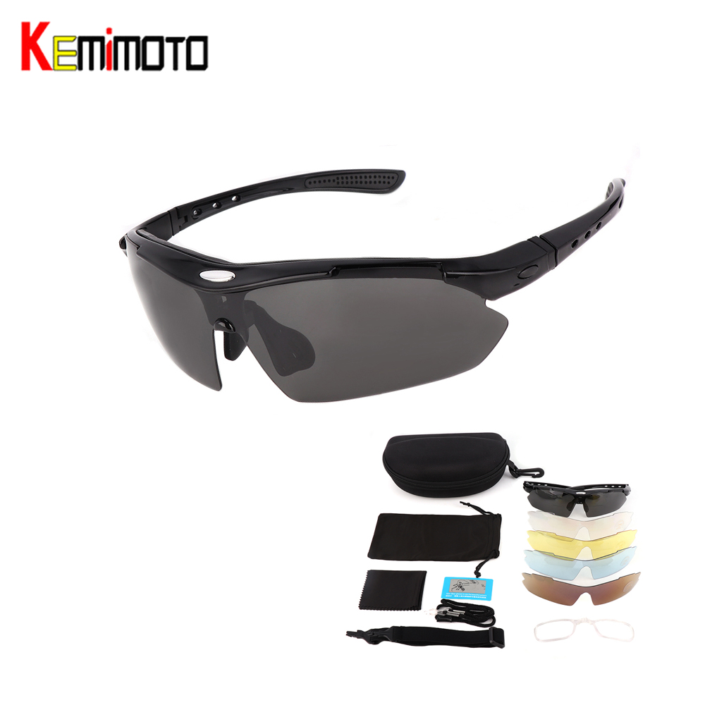 Kemimoto Rider-Glasses Polarized Cycling Motorcycle Women with 5-Lens-Kits for Running