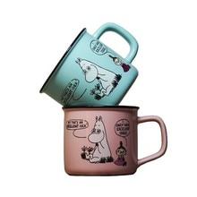 Lovely Moomin Ceramics Creative Cartoon Couple Pair Lovers Gift Mug Caneca Mikl Coffee Mugs Canecas Tea Cup Memorial Day In Love cute cartoon style couple lovers keychain silver pair