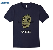GILDAN Pixel Yee T-Shirt  Yee Dinosaur Shirt надувные кольца на руки yee 005