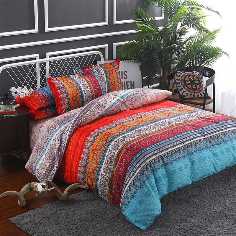 Luxury Bohemian Ethnic Style Bedding Set Twin Full Queen King 4 Size Duvet Cover Pillowcase Set