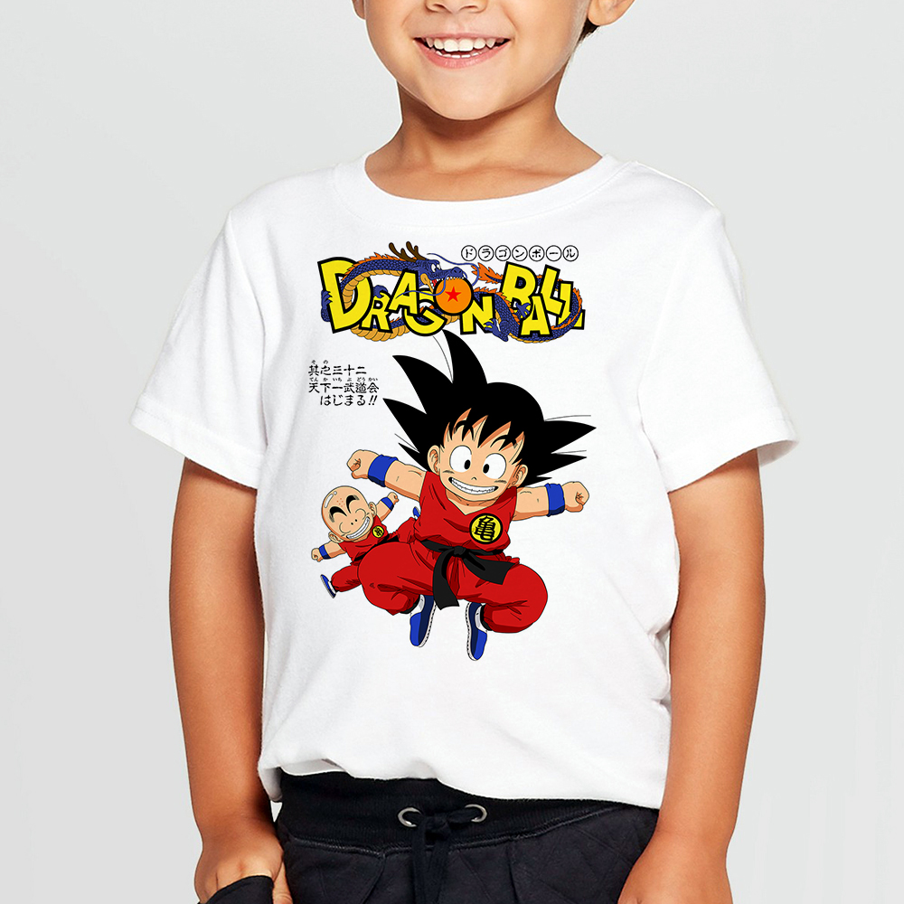Tees Tee-Shirts Dragon-Ball-Z K026 Boys Kids Anime 3D Goku DBZ Casual K025 Harajuku Super-Saiyan