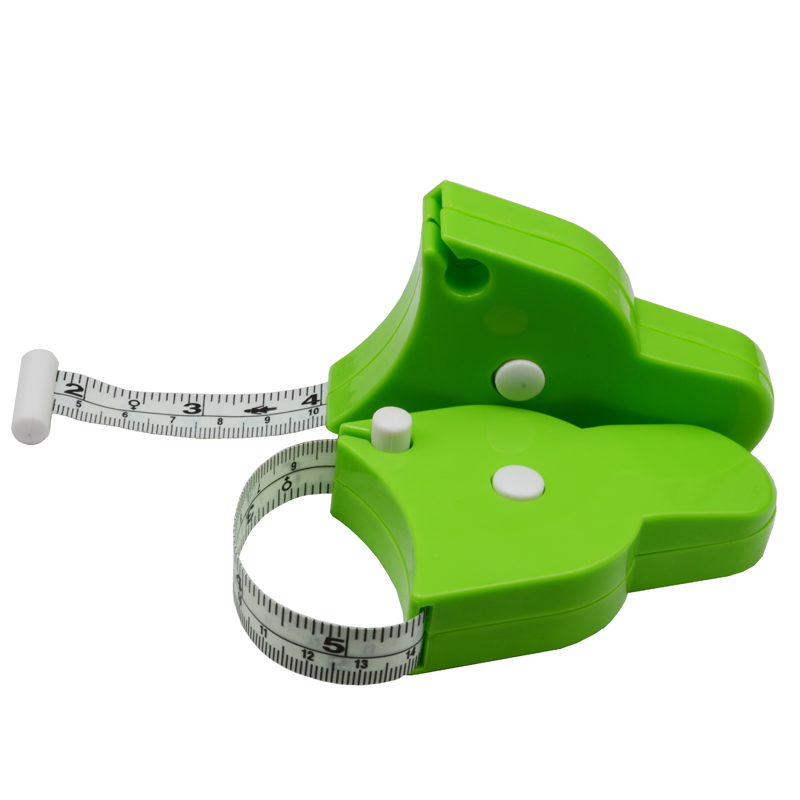 1pcs Green 60 1.5m Retractable Ruler Tape Measure Sewing Cloth Dieting Tailor Plastic