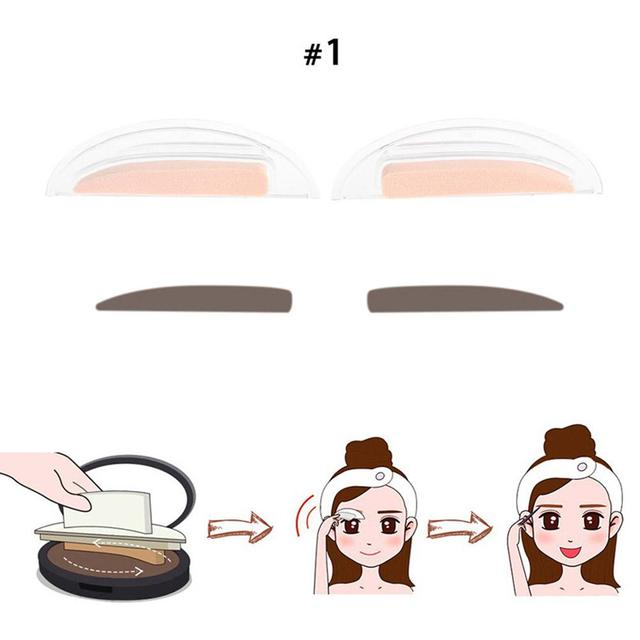 BellyLady 2Pcs Fashion Sponge Eyebrow Stamps for Eye Makeup 3