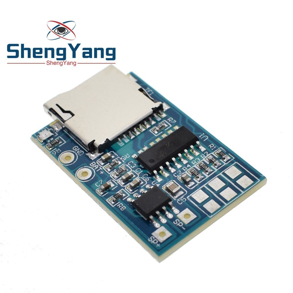 Sweet-Tempered Gpd2846a Tf Card Mp3 Decoder Board 2w Amplifier Module Electronic Components & Supplies